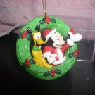 Disney Mickey  and Pluto Ornament  Figurine Mint