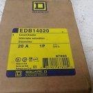 Square D EDB14020 20 Amp 277 VAC 1 Pole Circuit Breaker EDB EDB14 New