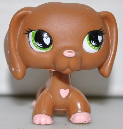 Dachshund #556 valentine Littlest Pet Shop Retired Collector Toy LPS Collectible Figure Loose OOP