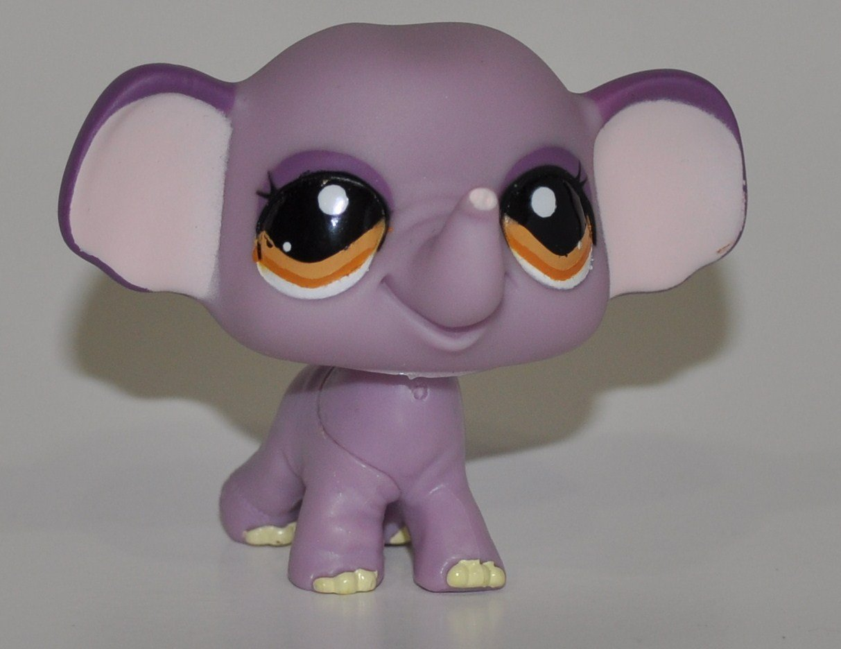 Elephant #1086  Littlest Pet Shop Retired Collector Toy LPS Collectible Figure Loose OOP