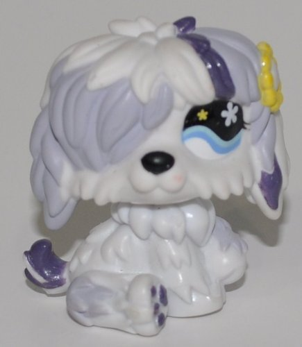 Sheepdog #466 ( Littlest Pet Shop Retiredbobble head Toy LPS Collectible  Figure Loose OOP