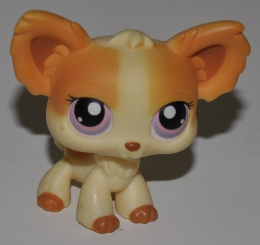 Chihuahua #96 Purple Eyes Littlest Pet Shop Retired Collector Toy LPS Collectible  Figure Loose OOP