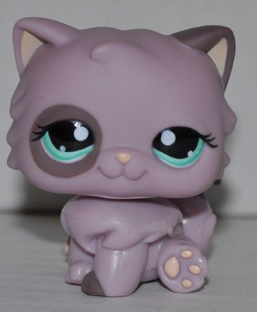 Kitten  cat Persian #1027 Littlest Pet Shop Retired ToyLPS Collectible Single Figure Loose OOP