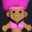 "My Lucky THONG BIKINI 6"" Troll Doll - Hot Pink Hair"