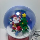 GEMMY LARGE NORTH POLE SANTA SNOWMAN SNOWGLOBE MUSIC AND AIRBLOWN SNOW