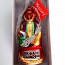 Organ Grinder Department 56 Blown Glass Hand Painted