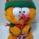 "Vintage Fun Farm 1981 Garfield Cat PLush Stuffed Animal Skis Winter 10"""