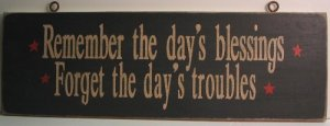 """Wooden """"Blessings & Troubles"""" Sign"""