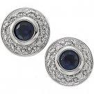 14kt White Gold Sapphire & Diamond Earring