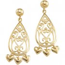 14kt Yellow Gold Chandelier Earring