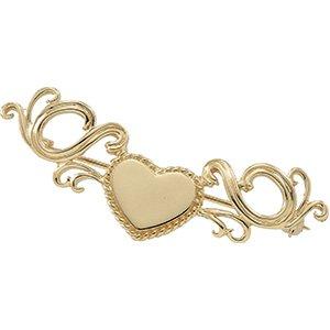 14kt White Gold Heart Brooch