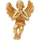 14kt Yellow Gold Praying Angel Label Pin