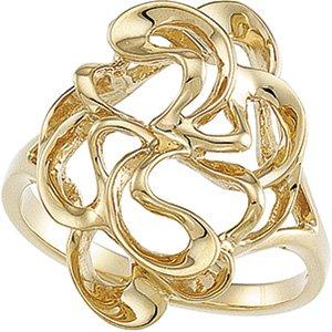 14kt Yellow Gold Metal Fashion Ring