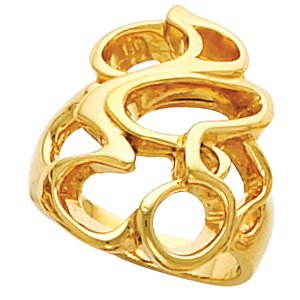14kt Yellow Gold Metal Fashion Ring