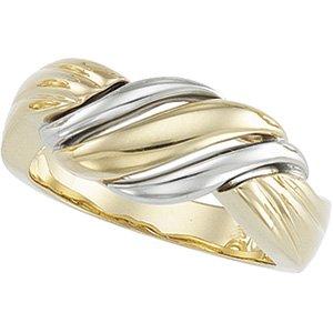 14kt White & Yellow Gold Metal Fashion Ring