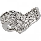 14kt White Gold 1 ctw Diamond Ring