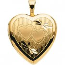14kt Yellow Gold Teen Heart Locket