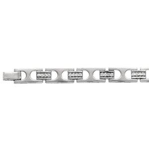 14kt White Gold Men's 2ctw Diamond Bracelet