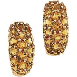 14kt Yellow Gold Citrine Earring
