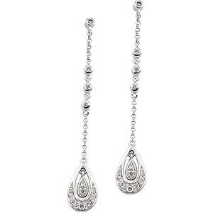 14kt White Gold .17 ctw Diamond Earring
