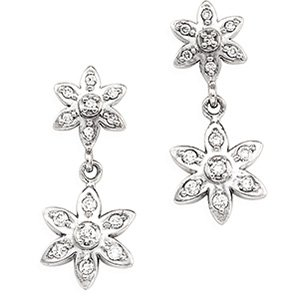 14kt White Gold .25 ctw Diamond Earring