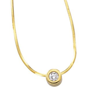 14kt Yellow Gold .10 ctw Diamond Solitaire Necklace