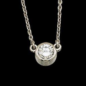Platinum Diamond Solitaire Necklace