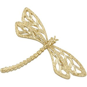 14kt Yellow Gold Dragonfly Brooch