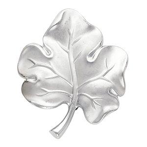 14kt White Gold Leaf Brooch