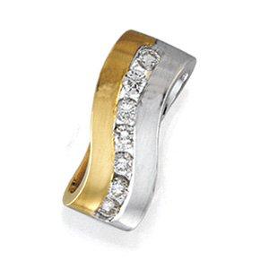 14kt Two Tone Gold .40 ctw Diamond Pendant