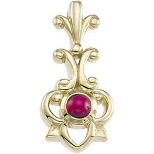 14kt Yellow Gold Ruby Pendant