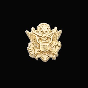 14kt White Gold U.S. Army Lapel Pin