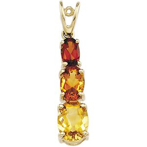 14kt Yellow Gold Citrine & Madeira Citrine