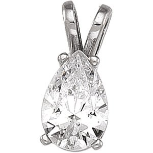 14kt White Gold Cubic Zirconia Pendant