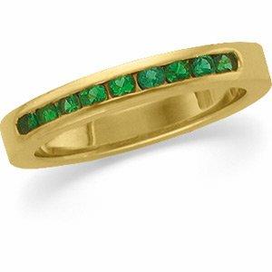 14kt Yellow Gold Emerald Anniversary Band