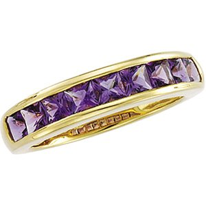 14kt Yellow Gold Amethyst Channel Ring
