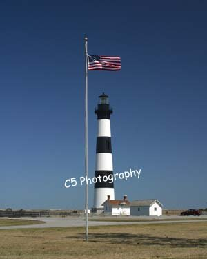 Bodie Island Lighthouse (Bodie 07) - 8 x 10 Matted Photograph