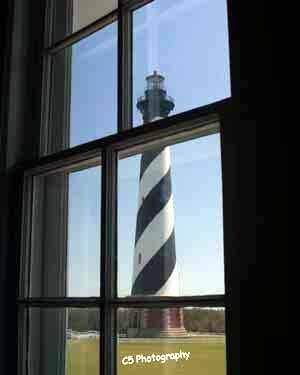 Cape Hatteras Lighthouse (Hatteras 002) - 8 x 10 Matted Photograph