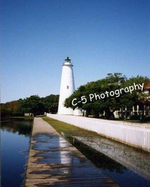 Ocracoke Lighthouse (Ocracoke 001) - 8 x 10 Matted Photograph