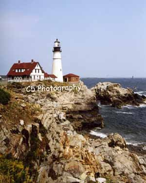 Portland Head Lighthouse (Portland 001) - 8 x 10 Matted Photograph