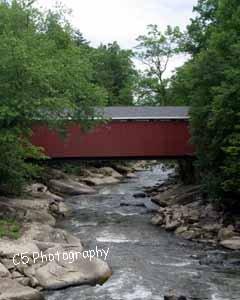 Covered Bridge McConnells Mill (Bridge 01g) 8 x 10 Matted Photograph