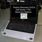 Dell Studio 1745 Recovery Restore DVD Disc Set