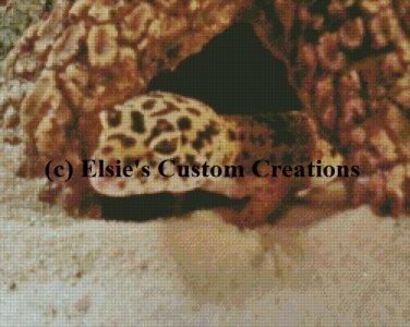 Nibbles - Leopard Gecko 1 - PDF Cross Stitch Pattern