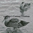 Ducks 1 - Grey Scale - PDF Cross Stitch Pattern