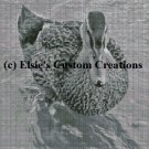 Single Duck 1 - Grey Scale - PDF Cross Stitch Pattern
