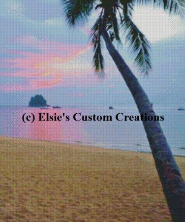 Beach At Tioman 2 - PDF Cross Stitch Pattern