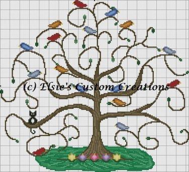 Tree of Life - PDF Cross Stitch Pattern