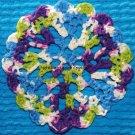 Circle Lace Afghan - PDF Crochet Pattern