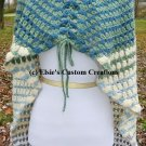 Scrap Buster Striped Granny Style Shawl Cape - PDF Crochet Pattern