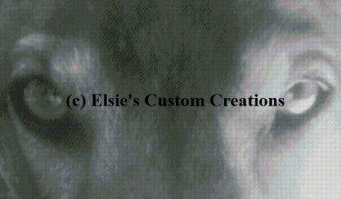 Eyes of a Wolf - Grey Scale - PDF Cross Stitch Pattern